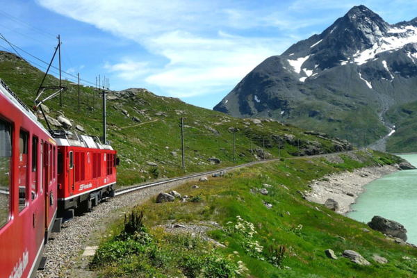 Bernina Express Train: day-trip to the Swiss Alps