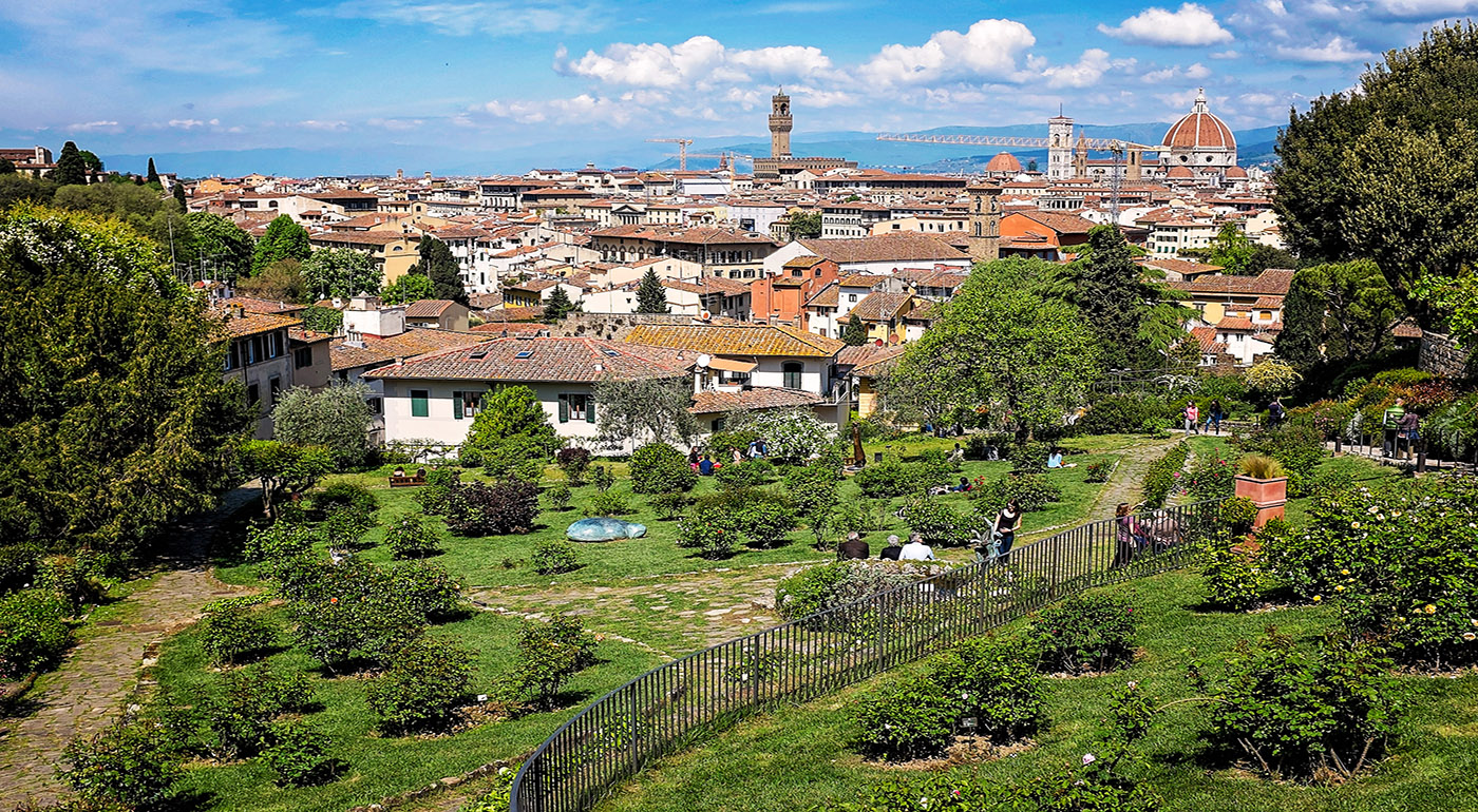 Gardens in florence italy florence parks michelangelo for Progettazione giardini siena