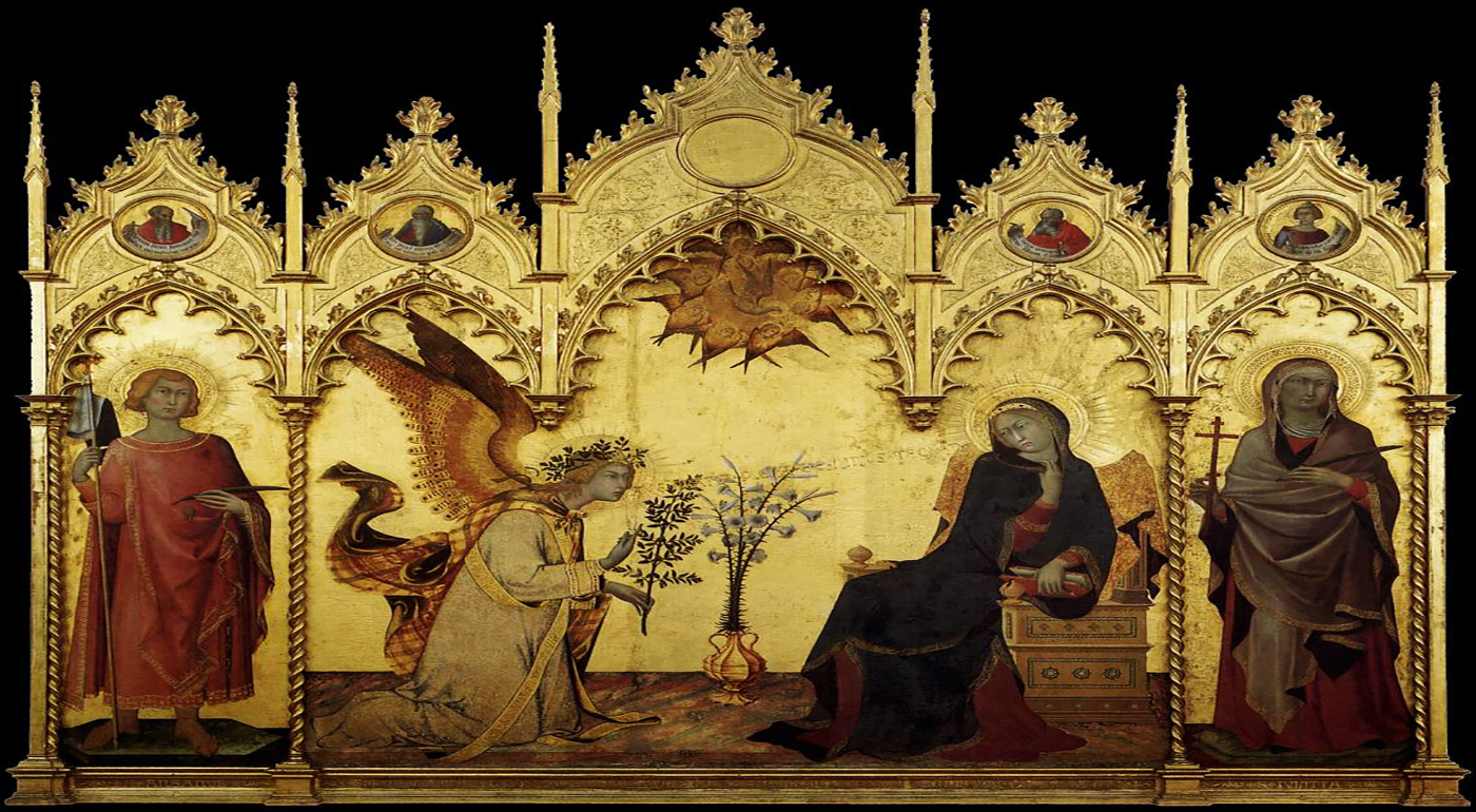 Annunciation by Simone Martini