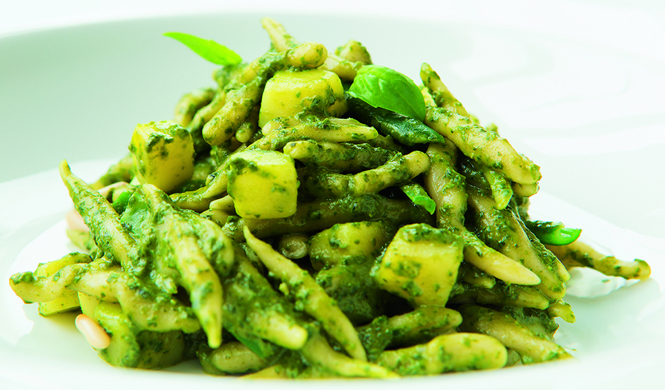 Trofie al Pesto from the President Hotel in Genoa