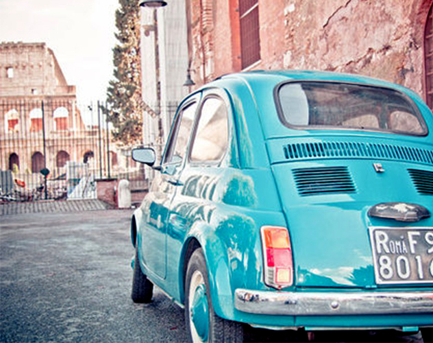 GREEN ROME TOUR IN ICONIC FIAT 500