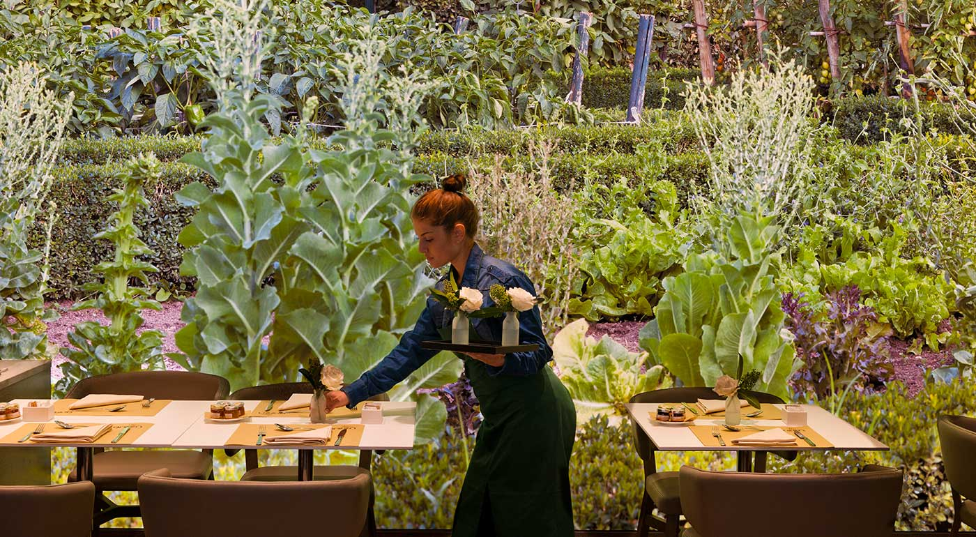 Orto restaurant by eataly organic and vegetarian in for Food bar garden