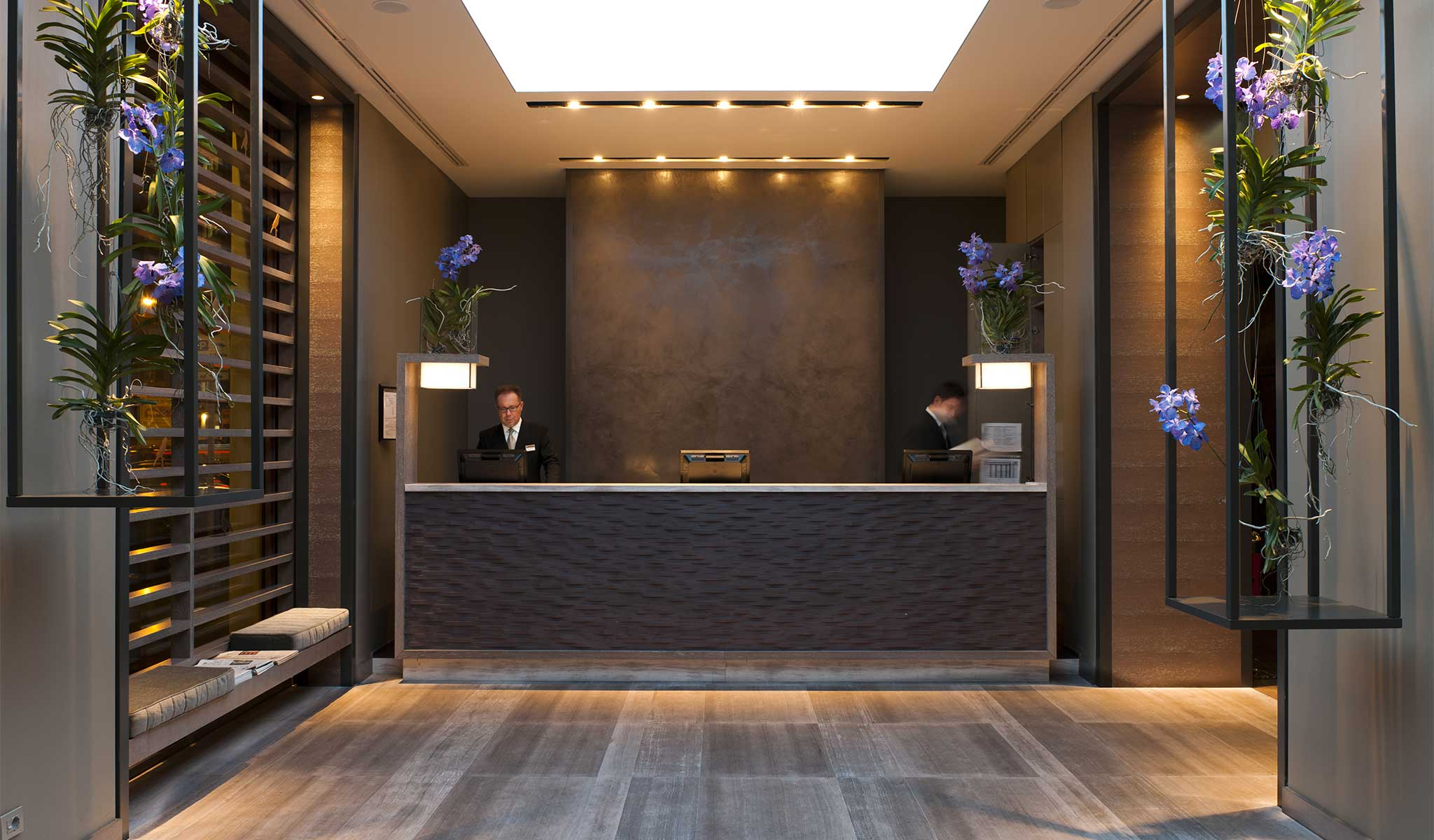 Photos and videos hotel milan city centre starhotels echo for Reception design hotel