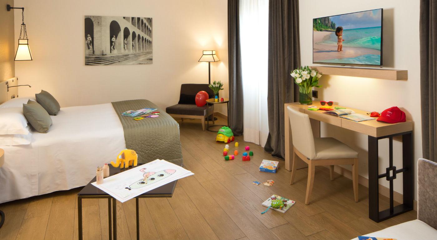 Soggiornare a Roma con bambini | Family Room | Starhotels Metropole